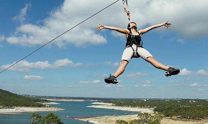Lake Travis Zipline Adventures - Austin: Zipline Tour or One-Season Pass at Lake Travis Zipline Adventures (Up to 45% Off)