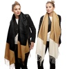 Two-Tone Oversize Blanket Scarf