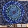 Bohemian Mandala-Print Decorative Wall Tapestry