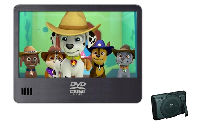 """Lector de DVD portátil compacto de 7"""" con USB y lector de tarjeta SD por 44,90 € (55% de descuento)"""