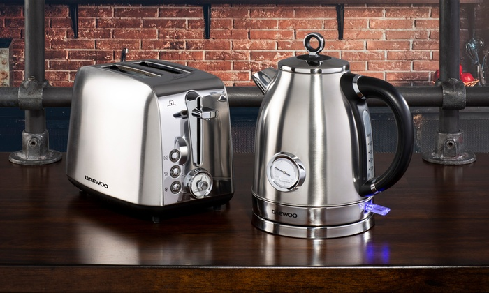 Daewoo Kingsbury Dial Kettle and Two or Four-Slice Toaster Set in Choice Of Colour