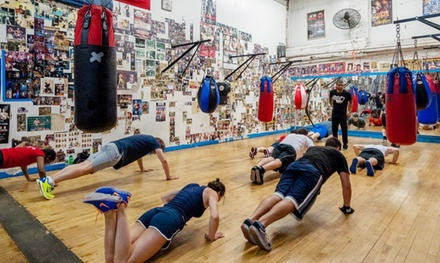 4 or 8 Boxing, Muay Thai, or Krav Maga Classes or a Three-Month Pass at Church Street Boxing Gym (Up to 73% Off)