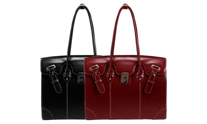 McKlein 15.6″ Ladies' Full-Grain Leather Laptop Tote