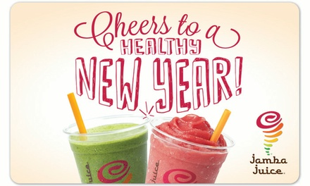 $10 for a $15 Jamba Juice Personalized eGift Card
