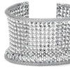 Mesh Open Cuff in 18K White Gold Plated Brass