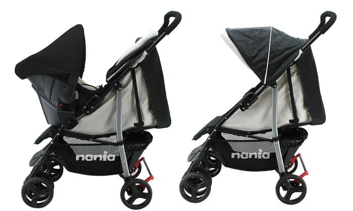 Poussette combinée siège auto BEONE  Nania Grp 0+ 0-13kg
