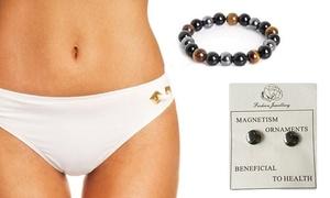 (Beauté)  Bracelet et boucles d'oreilles magnétiques -80% réduction