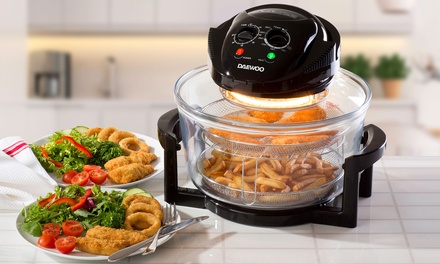 Daewoo 17L 1300W Halogen Air Fryer with Timer, SelfCleaning Function and Accessories