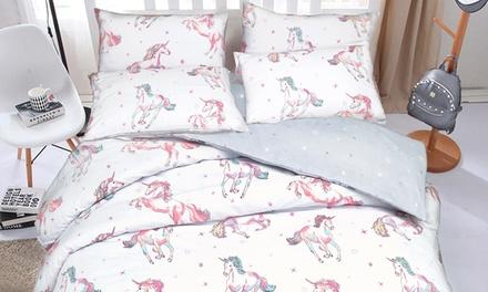 Pieridae Unicorn Duvet Cover Set