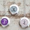 Up to 77% Off Silver or Bronze Custom Monogram Lockets