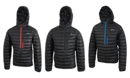 Daunen-Jacke unisex mit Kapuze und Steppung in der Farbe und Größe nach Wahl