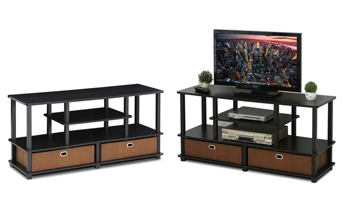 Furinno Jaya Large TV Stand With Storage: Furinno Jaya Large TV Stand With  Storage ...