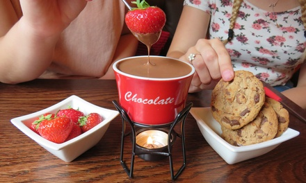 Chocolate Fondue with Sides and Drink at White Rabbit Chocolatiers