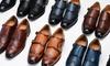 Vincent Cavallo Men's Wingtip Monk-Strap Dress Shoes (Sizes 8 & 10)