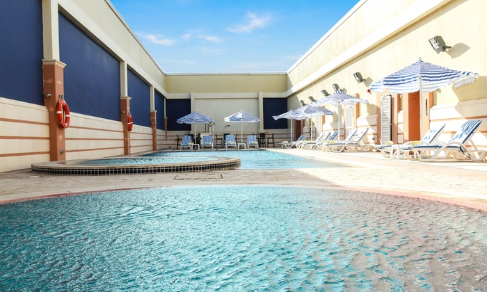 Pool Corner Danat Capital Hotel - Abu Dhabi: Gym & Pool Access or Membership With Massage & Food and Drink Credit at Pool Corner, Danat Capital Hotel (Up to 64% Off)