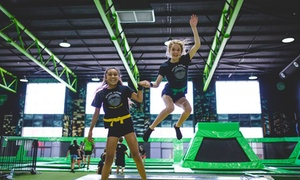 Flip Out Birmingham: One-Hour Trampoline Jumping Session for One, Two or Four at Flip Out Birmingham (Up to 36% Off)