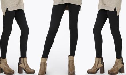 Pack de 3 o 5 leggins térmicos de color negro