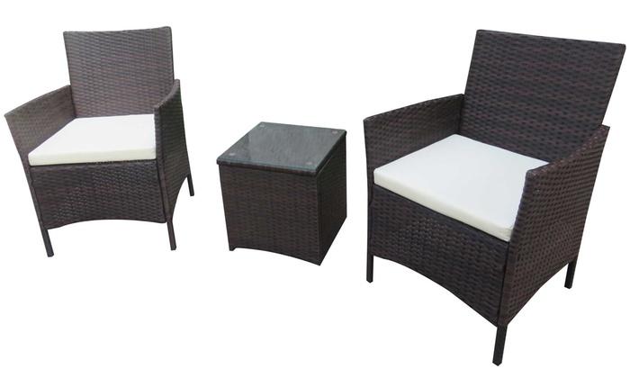 Sedie E Tavoli Da Esterno.Set Di 2 Sedie E Tavolo Da Giardino Disponibili In 2 Colori