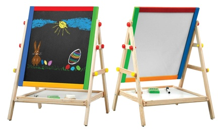 TwoinOne Blackboard and Whiteboard Easel