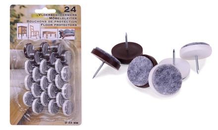 24 Filzgleiter Ø 24 mm mit Nägeln für Stuhl- oder Tischbeine (37% sparen*)