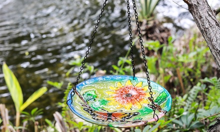 Hanging Glass Bird Feeders - Butterfly or Hummingbird