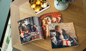 Photobook Emirates: 40-Page Personalised Photobook with a Choice of Size and Cover Type from Photobook Emirates (Up to 67% Off)