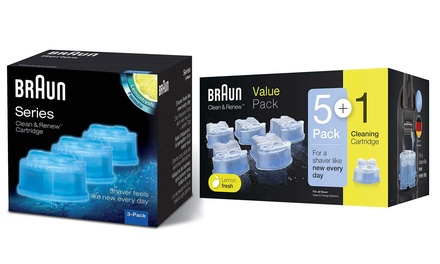 Three or FivePack of Braun CCR Clean and Renew Refill Cartridges