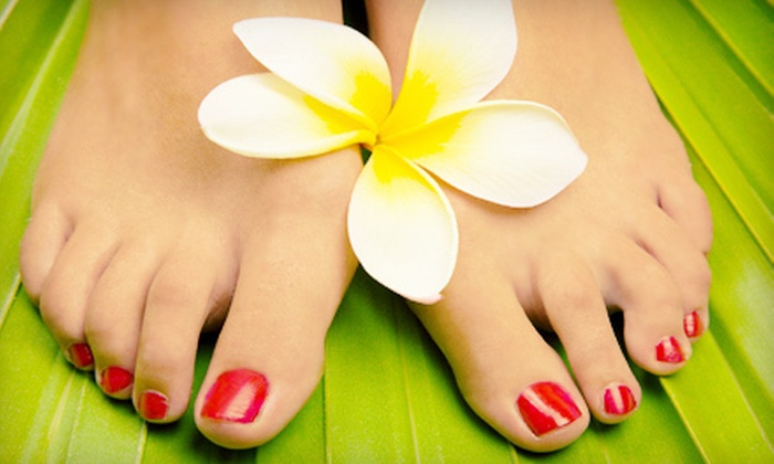 Tickled Pink Salon & Nail Spa - Clayton: $39 for a Hot-Stone Spa Pedicure at Tickled Pink Salon & Nail Spa ($100 Value)