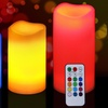 LED Wax Candle Set with Built-In Timer and Remote Control (3-Piece)