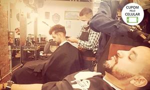 Barbearia Clube Masculino: Corte de cabelo e/ou barba (opção com relaxamento ou Thermo) na Barbearia Clube Masculino – Setor Sudoeste