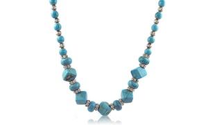 Genuine Turquoise and Swarovski Elements Crystal Necklace at Genuine Turquoise and Swarovski Elements Necklace, plus 6.0% Cash Back from Ebates.