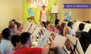 The Party Studio: $23 for a BYOB Painting Class for One at The Party Studio ($35 Value)
