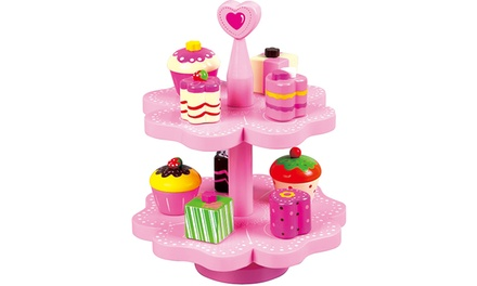 Lelin Wooden Cake Stand Toy