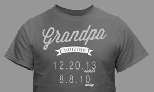 GiftsForYouNow.com: Custom Dad Established T-Shirt from GiftsForYouNow.com (1- or 2-Pack)