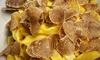 Menu terra con funghi e tartufo