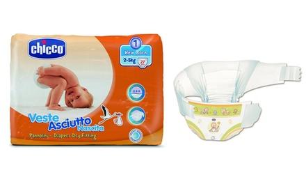Pack de 270 pañales Chicco para recién nacidos de 2.5 kg