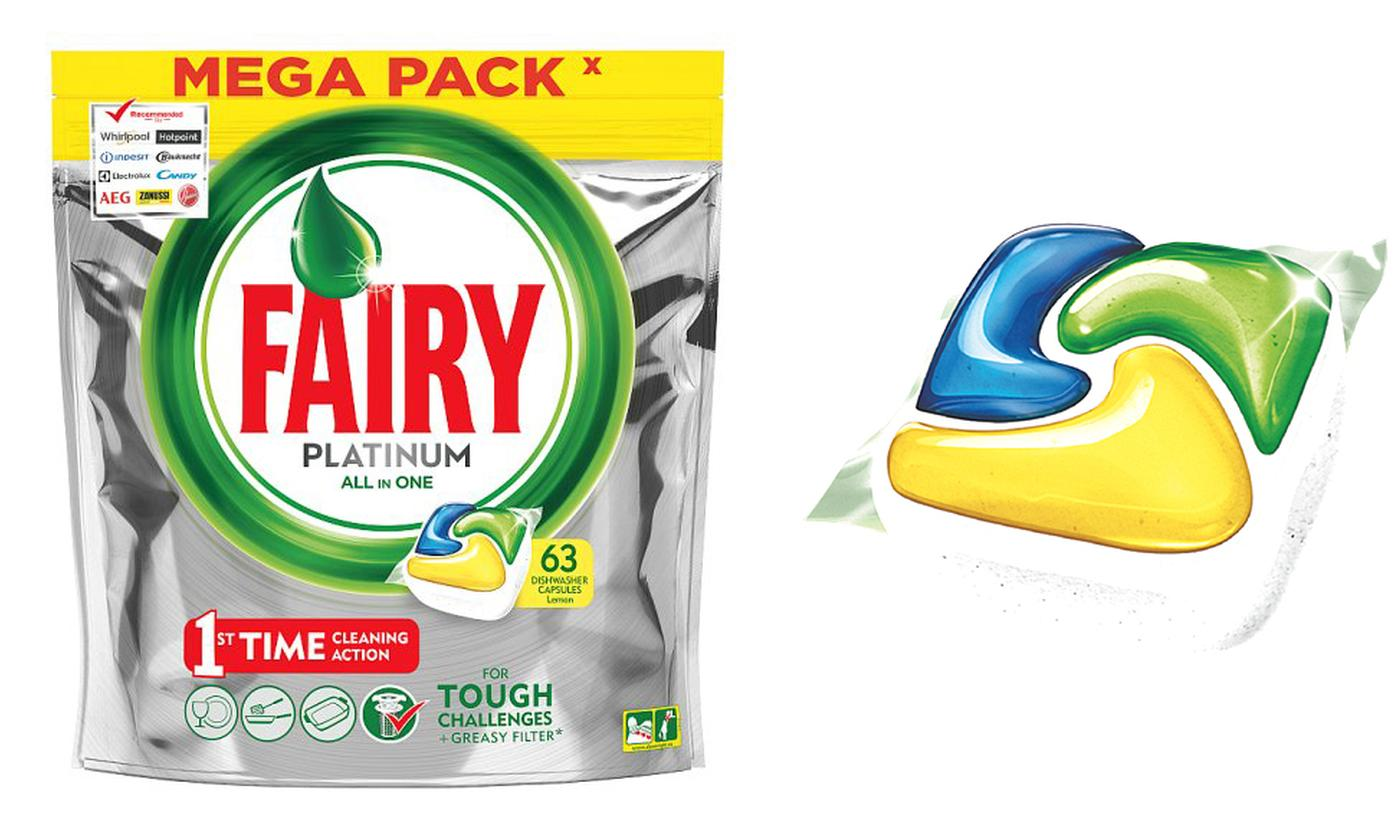 Up to 378 Fairy All-in-One Platinum Lemon Tabs