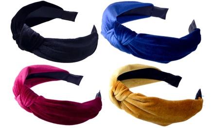 Velvet Cross Knot Hairband