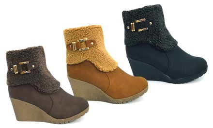 Women's Wedge Ankle Boots in Two Designs