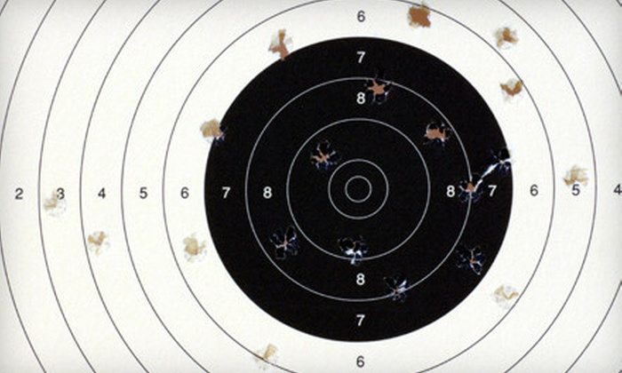 Family Indoor Shooting Range - Raymond Park: Shooting Session for Three or a 30-Day Gun-Range Membership for One at Family Indoor Shooting Range (Half Off)