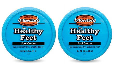 Two or Four O'Keeffe's Healthy Feet Cream Jars 91g