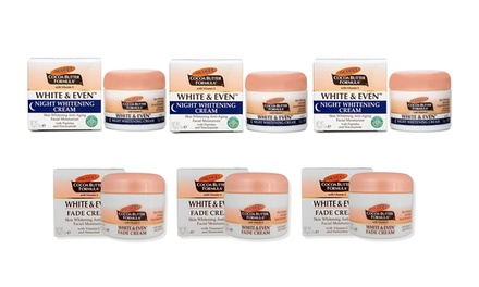 $9 for Three Jars of Palmer's White and Even Fade Cream or Night Whitening Cream Don't Pay $19.50