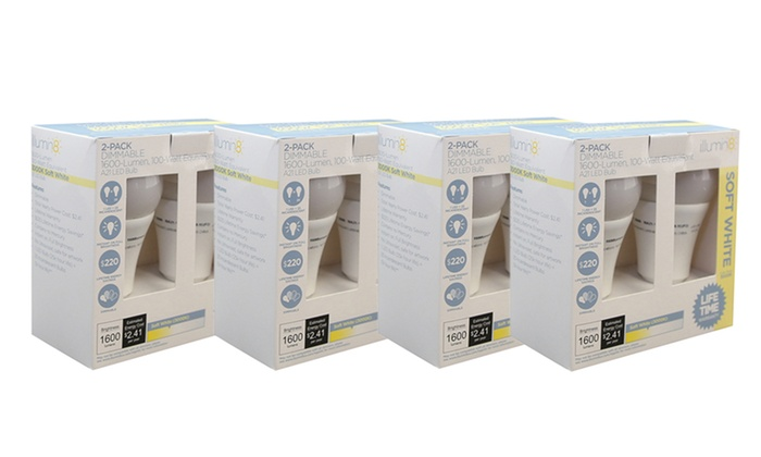 illumin8 Dimmable 100-Watt-Equivalent LED Bulbs (8-Pack)