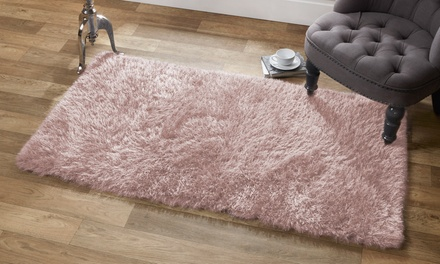 Vienna Shimmer Thread Shaggy Rugs in Choice of Colour and Size