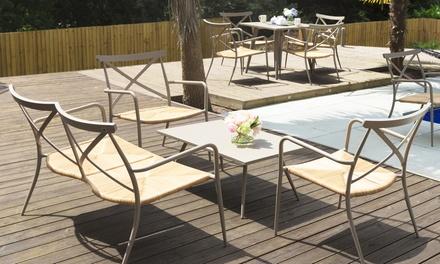 Oseasons rattan garden furniture groupon for Outdoor furniture groupon