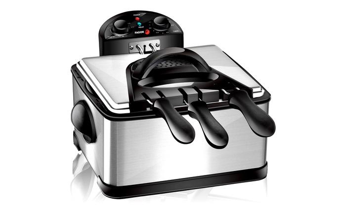 Friteuse inox 3 paniers 4L à 4990€ (50% de rduction)