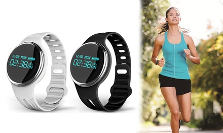 $25 for a Bluetooth Smart Wristband Activity Fitness Tracker with Heart Rate Monitor