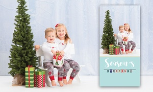 Portraits in Minutes - In Walmart: Custom Holiday Photo Card Packages from Portraits in Minutes (Up to 88% Off)