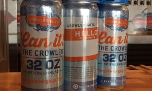 42% Off Crowlers at The Growler Guys at The Growler Guys, plus 6.0% Cash Back from Ebates.