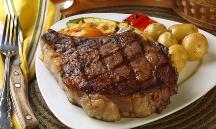 Menú para 2 personas con entrante, arroz de mariscos o chuletón de buey, postre y bebida desde 29,95 € en La Codorniz